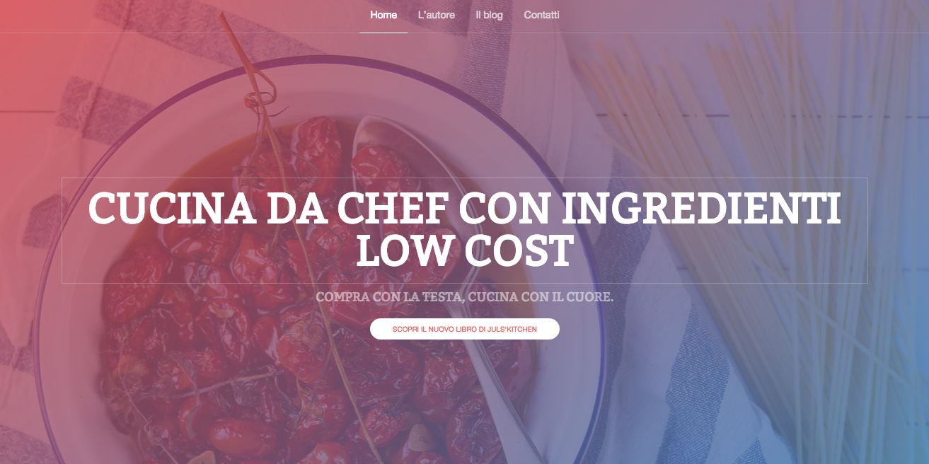 Cucina da chef con ingredienti low cost